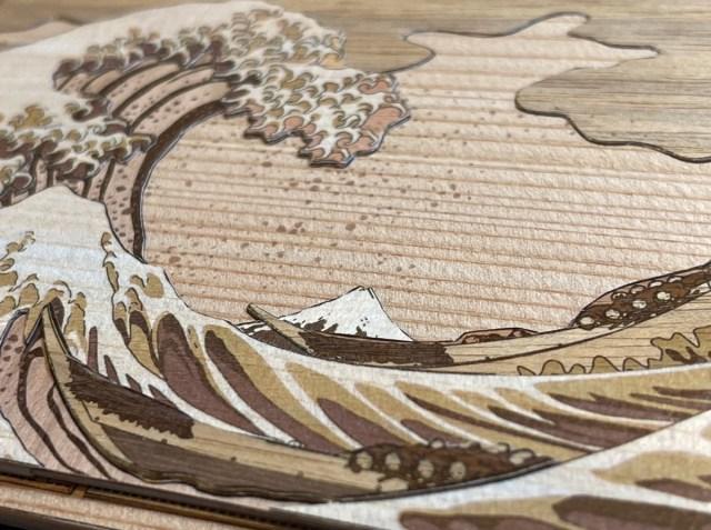 【和の心】木でできた浮世絵が美しすぎる! 職人芸かと思いきや超簡単な「木はり絵」やってみた