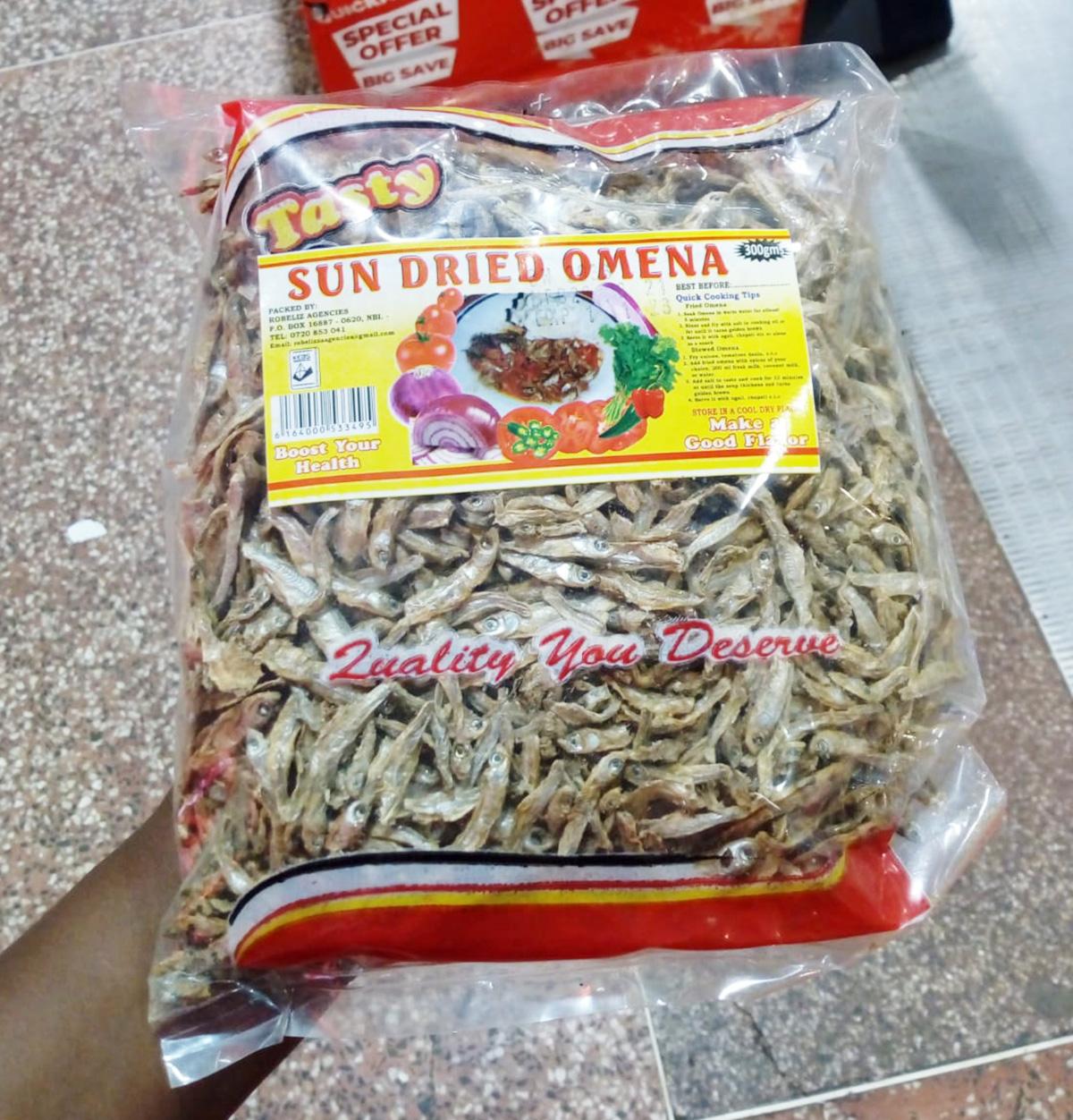 【調理写真つき】ケニア版ちりめんじゃこのケニア風レシピ「オメナと野菜の炒め物」の作り方 / カンバ通信:第107回